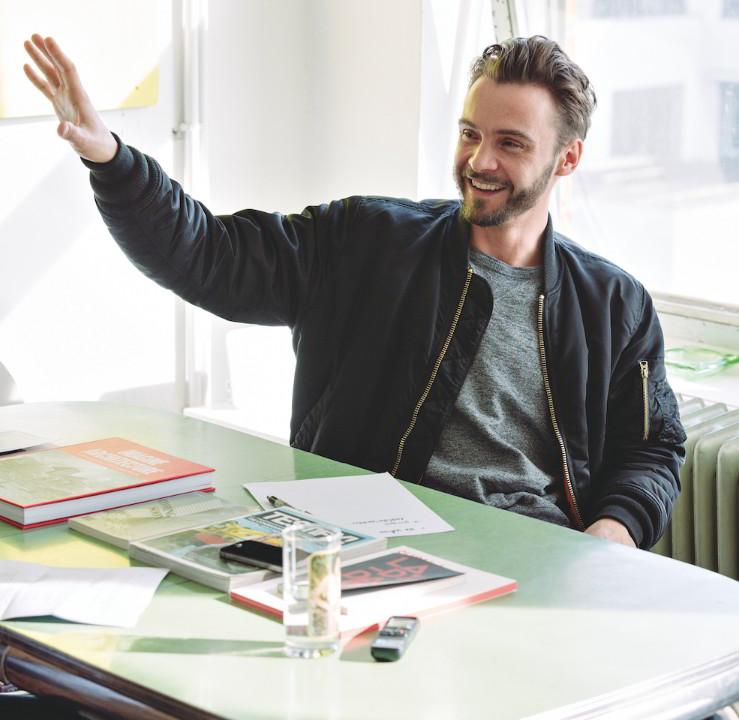 Lukas Feireiss in seinem Kreuzberger Büro. Foto: Trevor Good.