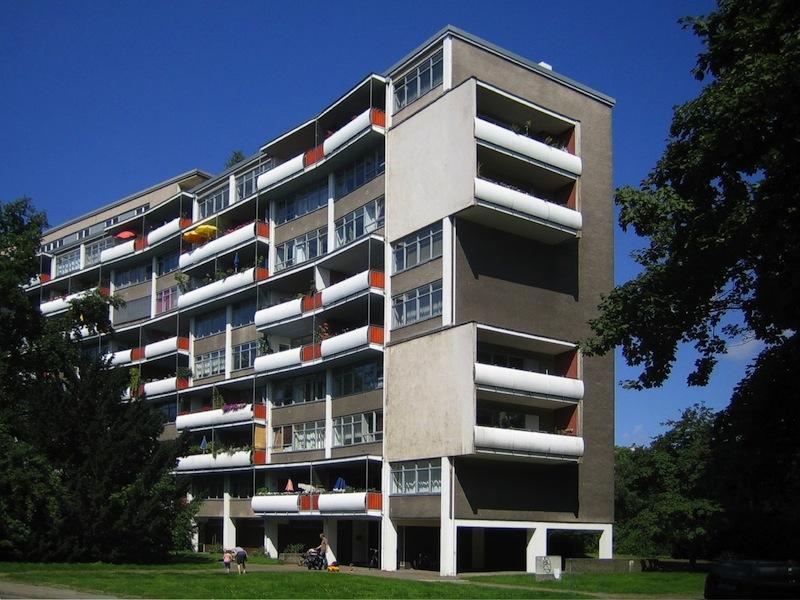 Hansaviertel, Berlin, Wohnhaus von Walter Gropius. Foto: Manfred Brückels